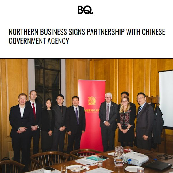 Northern business signs partnership with Chinese Government agency