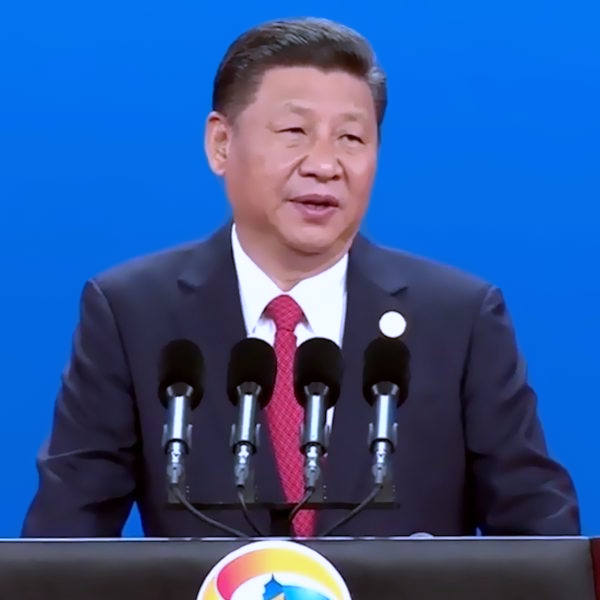President Xi Jinping speaking at the Belt and Road Forum, May 2017
