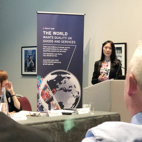 Anita Zhang speaks at the China Bites Seminar in Manchester / ©ACOLINK